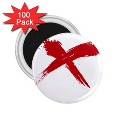 red x 2.25  Button Magnet (100 pack)