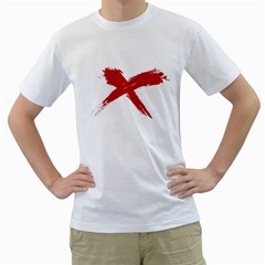 red x Mens  T-shirt (White)