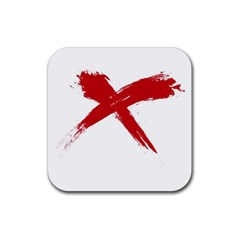 red x Drink Coasters 4 Pack (Square)
