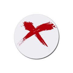 red x Drink Coasters 4 Pack (Round)