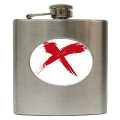red x Hip Flask