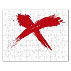 red x Jigsaw Puzzle (Rectangle)