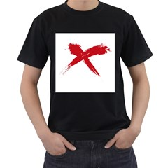 red x Mens' Two Sided T-shirt (Black)