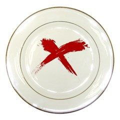 red x Porcelain Display Plate