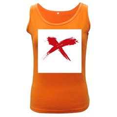 Red X Womens  Tank Top (dark Colored)