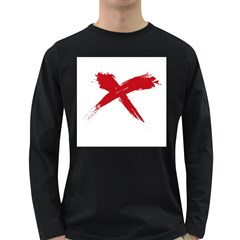 red x Mens' Long Sleeve T-shirt (Dark Colored)