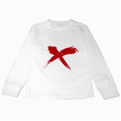 red x Kids Long Sleeve T-Shirt
