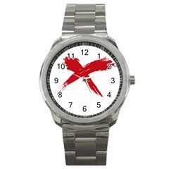 Red X Sport Metal Watch