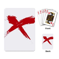 red x Playing Cards Single Design