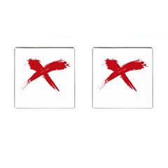 Red X Cufflinks (square)