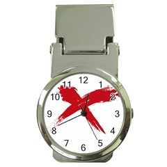 red x Money Clip with Watch