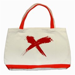 Red X Classic Tote Bag (red)