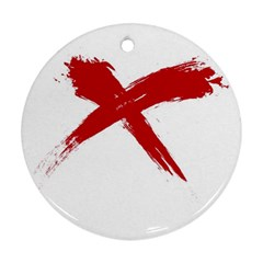 red x Round Ornament (Two Sides)