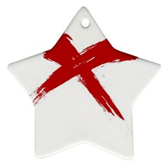 Red X Star Ornament (two Sides)