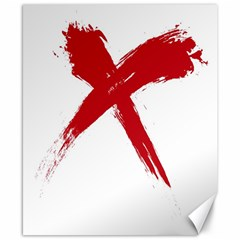 Red X Canvas 8  X 10  (unframed)