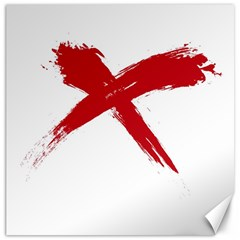 red x Canvas 16  x 16  (Unframed)