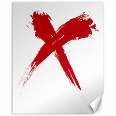 Red X Canvas 16  X 20  (unframed)