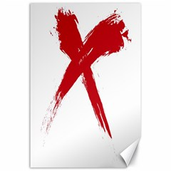 red x Canvas 24  x 36  (Unframed)