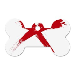 red x Dog Tag Bone (Two Sided)