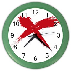 Red X Wall Clock (color)