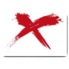 red x Large Door Mat