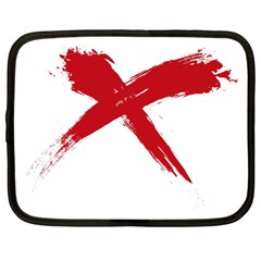 red x Netbook Case (Large)
