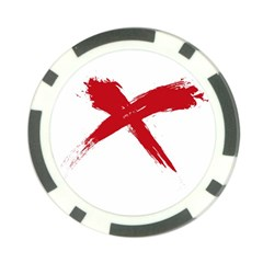 red x Poker Chip 10 Pack