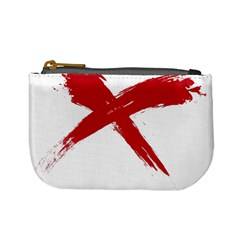 Red X Coin Change Purse