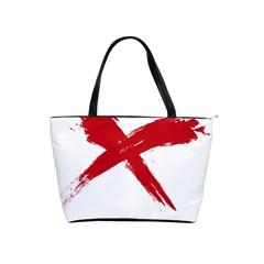 Red X Large Shoulder Bag