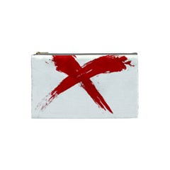 Red X Cosmetic Bag (small)
