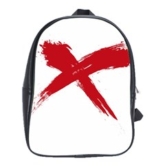 red x School Bag (Large)