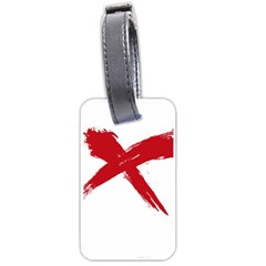 red x Luggage Tag (Two Sides)