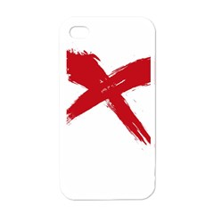Red X Apple Iphone 4 Case (white)