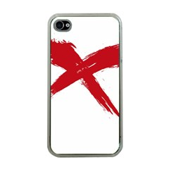 Red X Apple Iphone 4 Case (clear)