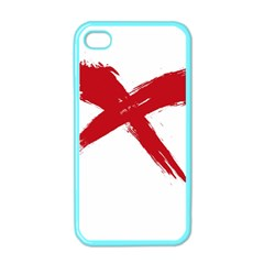 Red X Apple Iphone 4 Case (color)