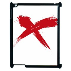 Red X Apple Ipad 2 Case (black)