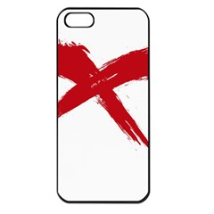 Red X Apple Iphone 5 Seamless Case (black)