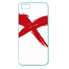 Red X Apple Seamless Iphone 5 Case (color)