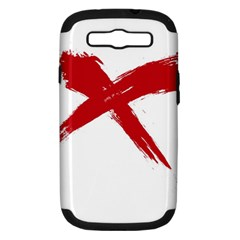 Red X Samsung Galaxy S Iii Hardshell Case (pc+silicone)