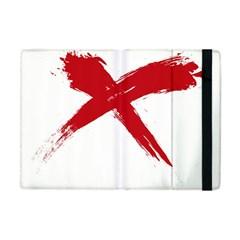 red x Apple iPad Mini Flip Case