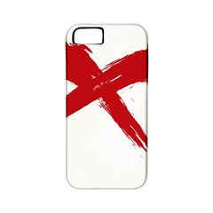 Red X Apple Iphone 5 Classic Hardshell Case (pc+silicone)