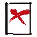 red x Apple iPad 3/4 Case (Black) Front