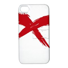 Red X Apple Iphone 4/4s Hardshell Case With Stand