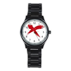 red x Sport Metal Watch (Black)