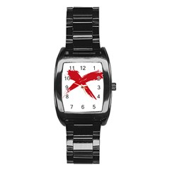 red x Men s Stainless Steel Barrel Analog Watch