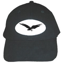 Grunge Bird Black Baseball Cap