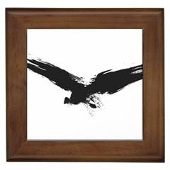 Grunge Bird Framed Ceramic Tile