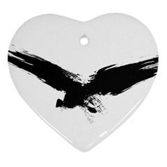 Grunge Bird Heart Ornament