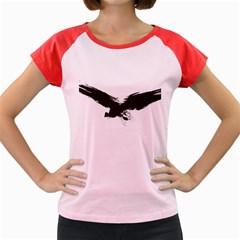 Grunge Bird Women s Cap Sleeve T-Shirt (Colored)