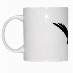 Grunge Bird White Coffee Mug